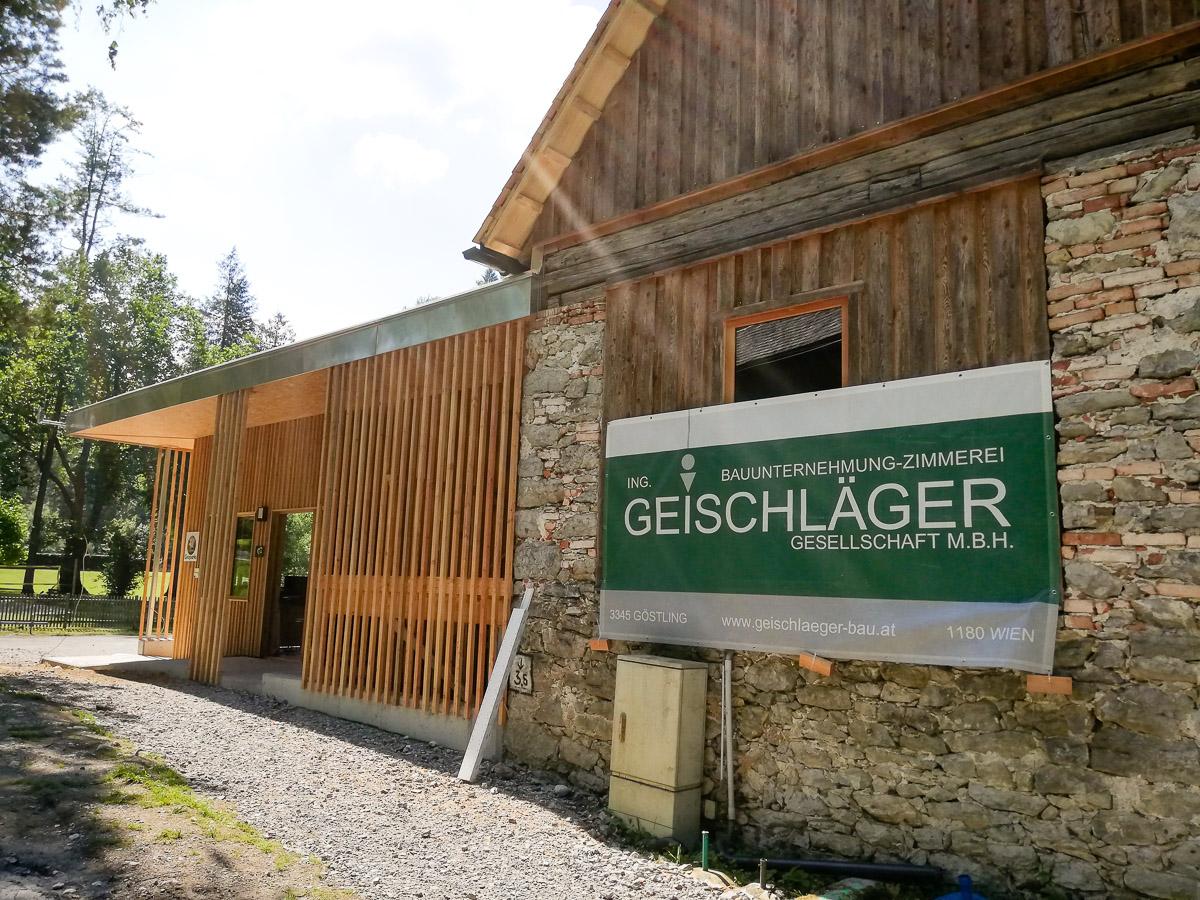 Das neue InfoZentrum des GeoDorf Gams (GeoWerkstatt)