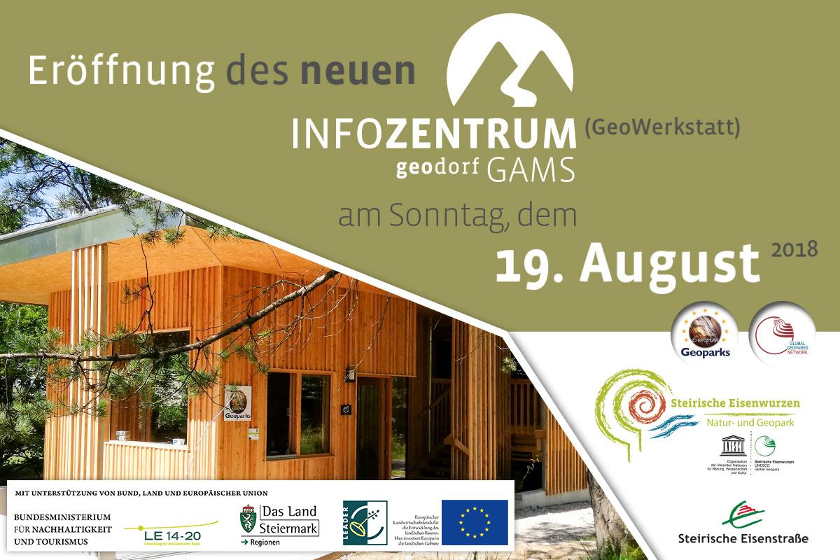 Eröffnung des neuen GeoDorf InfoZentrum (GeoWerkstatt)