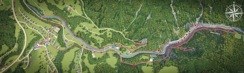 Panoramakarte Geodorf Gams